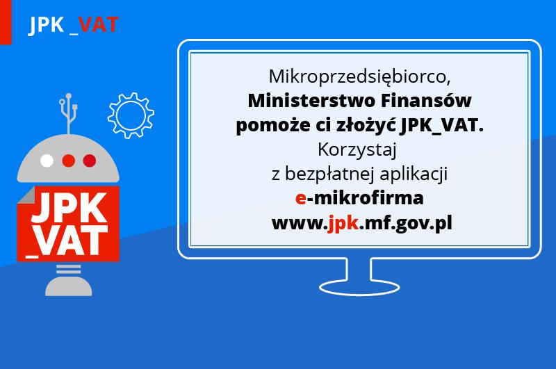 Ministerstwo Finansów pomaga mikroprzedsiębiorcom w zakresie JPK_VAT