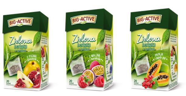 Zielone herbaty ekspresowe od Big-Active w odświeżonych opakowaniach