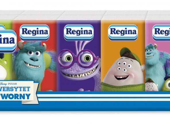 Regina  – kolorowe chusteczki z ulubionymi bohaterami