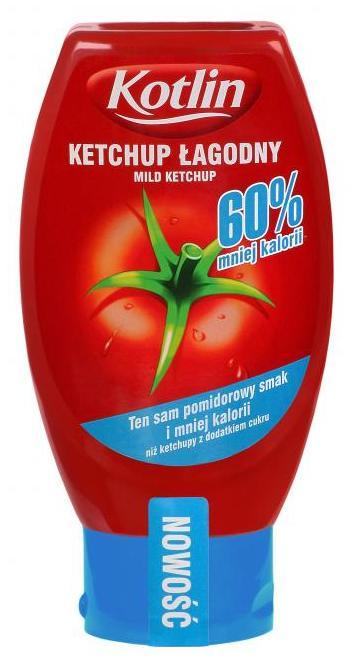Kotlin Ketchup łagodny 60% mniej kalorii