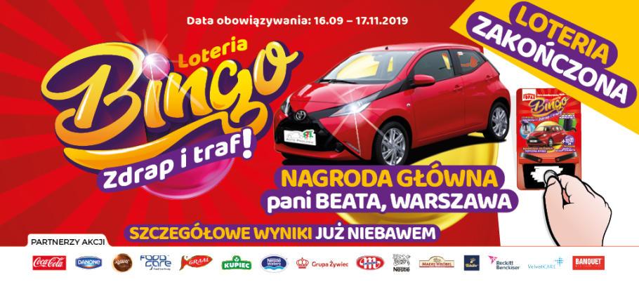 Loteria Bingo w sklepach Topaz zakończona