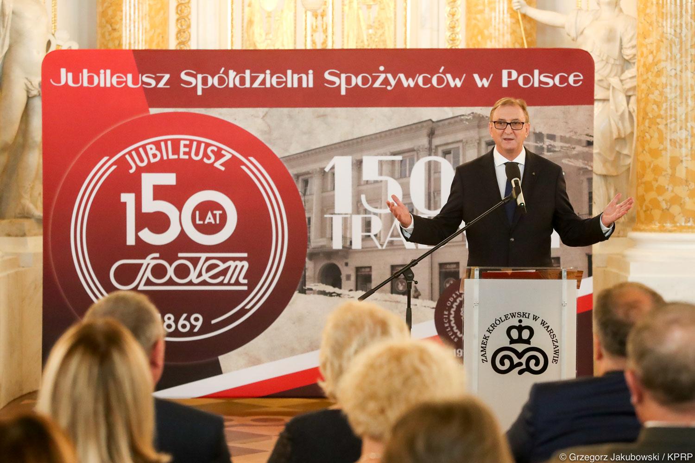 """Relacja z uroczystej gali z okazji 150-lecia powstania spółdzielczości spożywców """"Społem"""""""