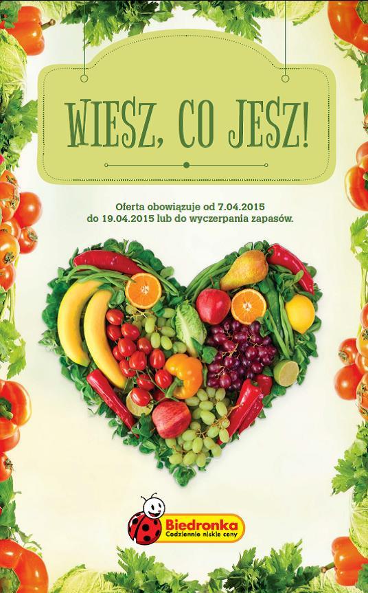 Biedronka edukuje w zakresie zdrowego żywienia