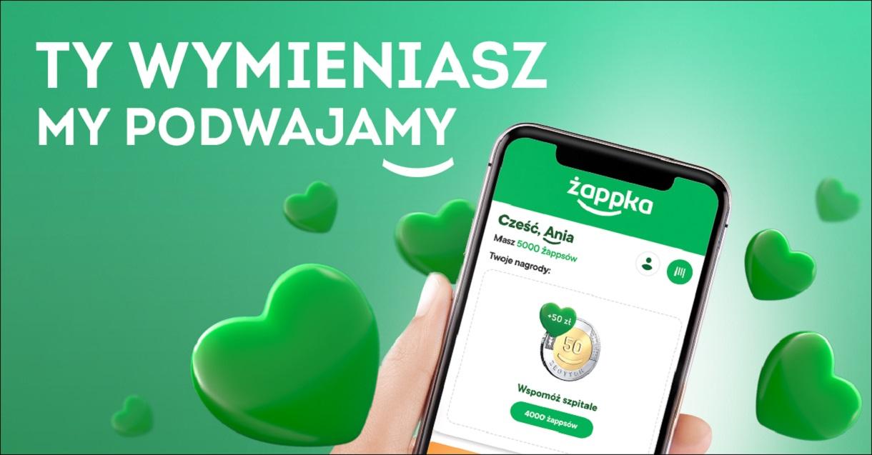 Ponad milion złotych na pomoc szpitalom dzięki aplikacji żappka