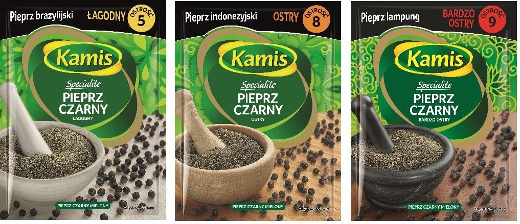 Egzotyczne gatunki pieprzu Kamis Specialite