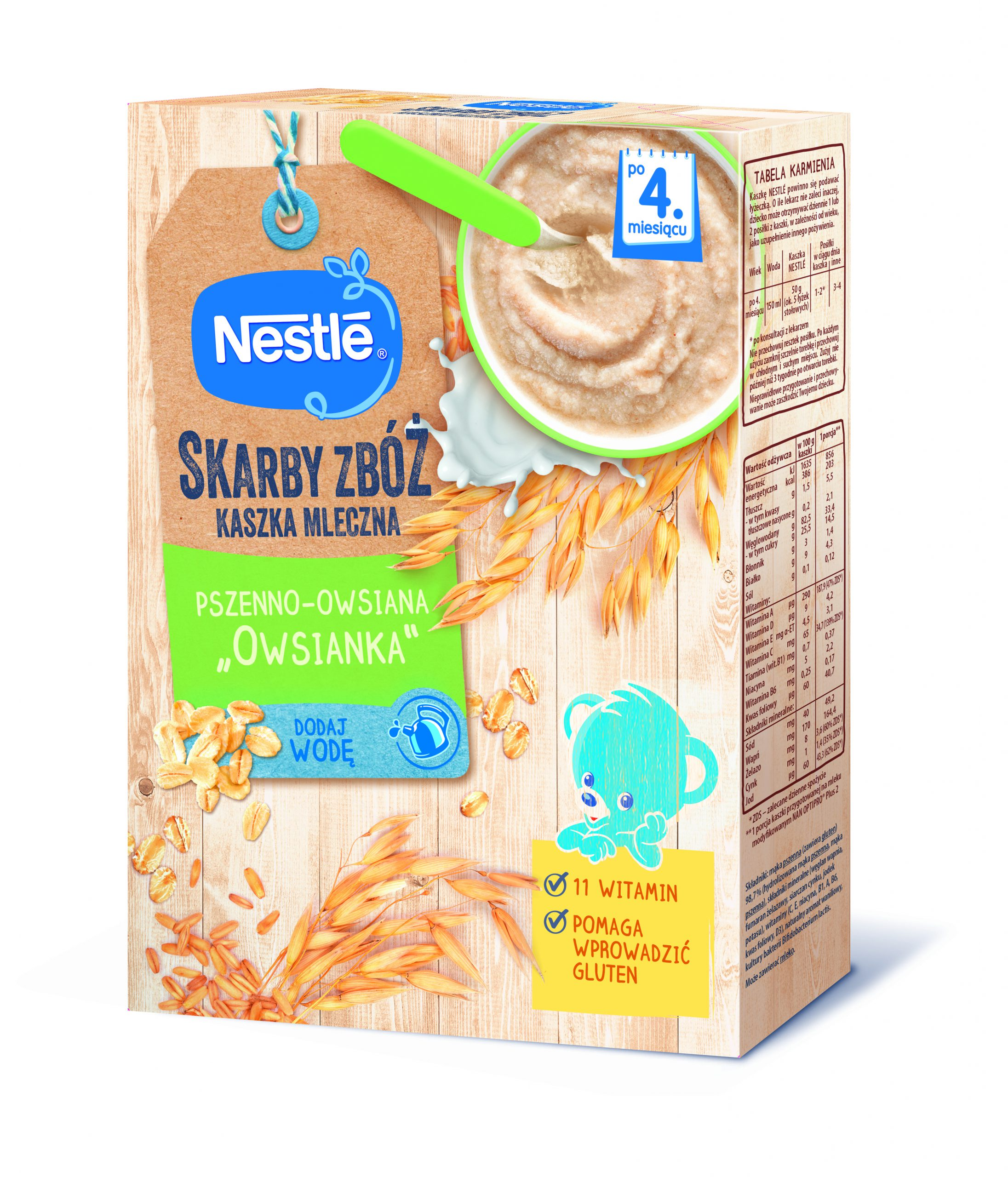 Nestlé wprowadziło linię kaszek Skarby Zbóż
