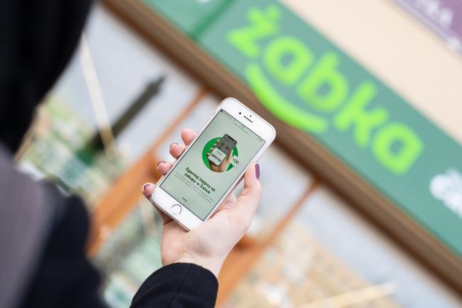 Aplikacja żappka na targach technologicznych NRF 2020