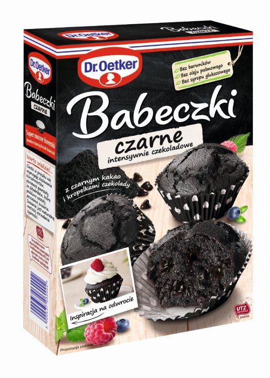 Czarne babeczki Dr. Oetkera