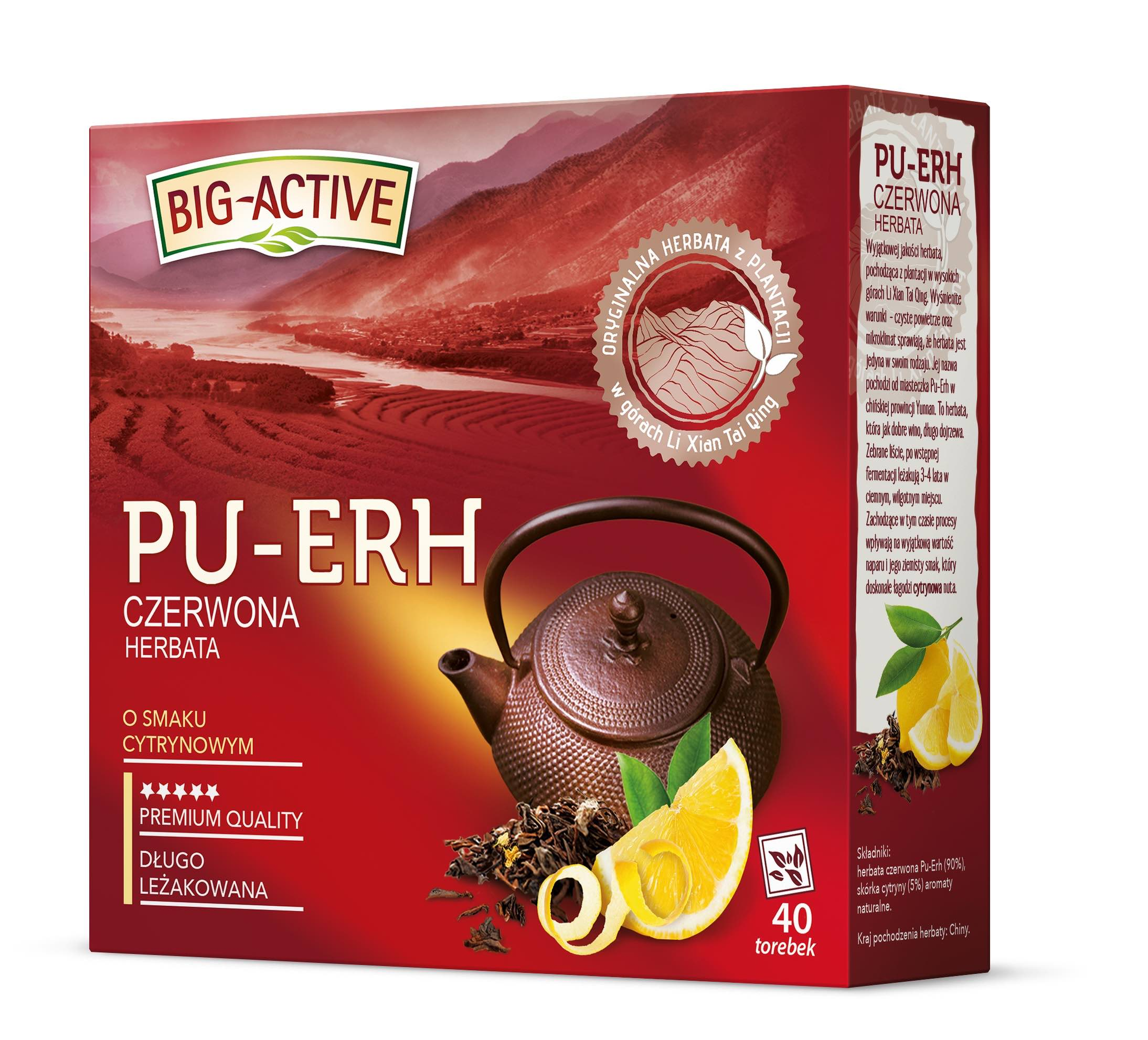 Czerwona herbata Pu-Erh marki Big-Active