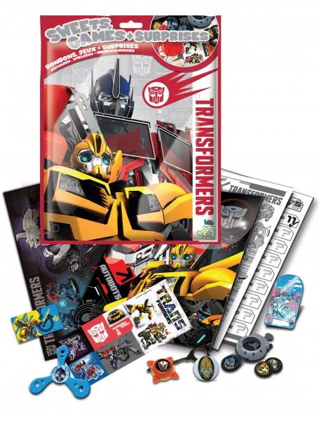 Torby-niespodzianki z bohaterami Transformers i Adventure time