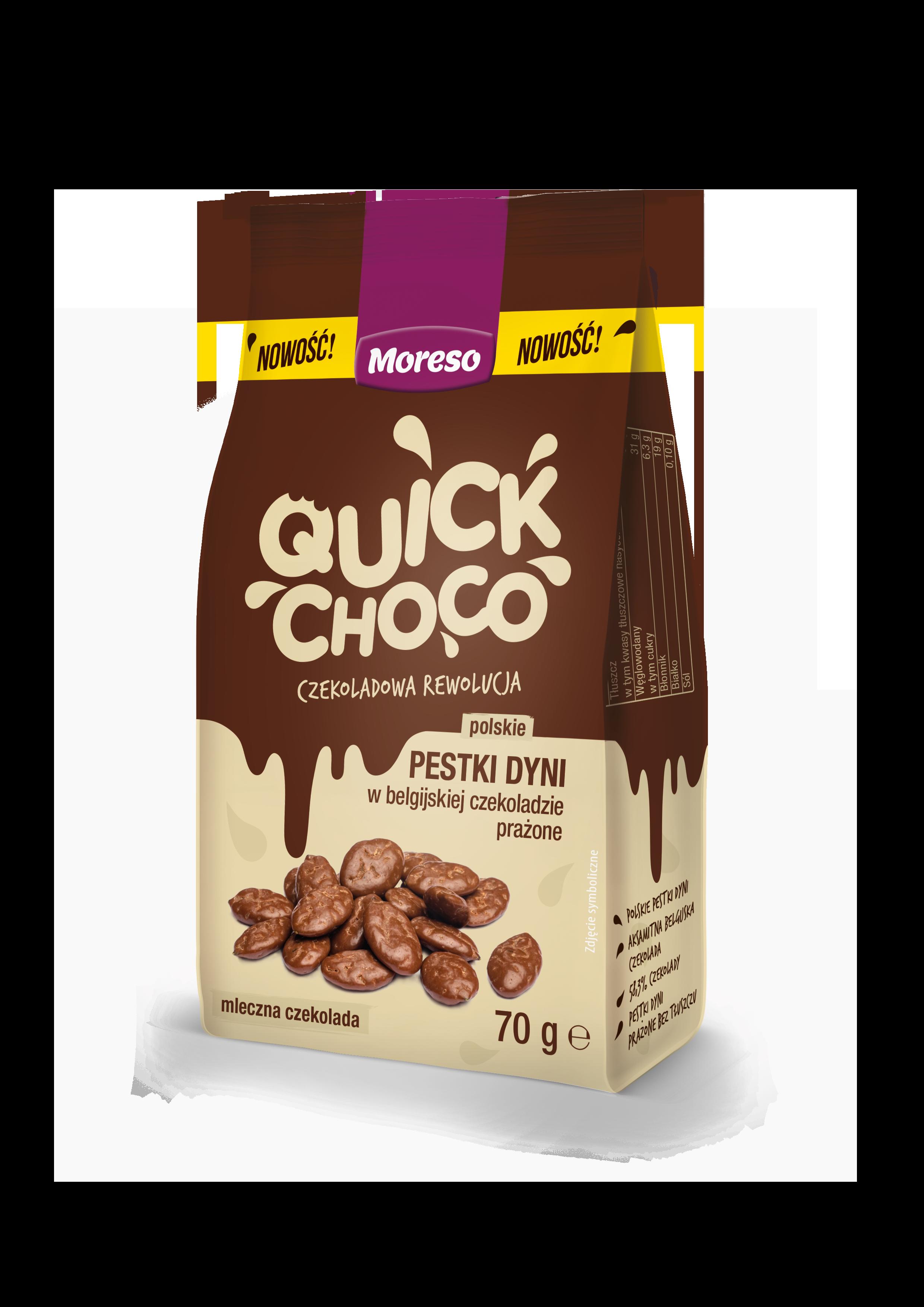 Quick Choco – polskie pestki dyni w belgijskiej czekoladzie