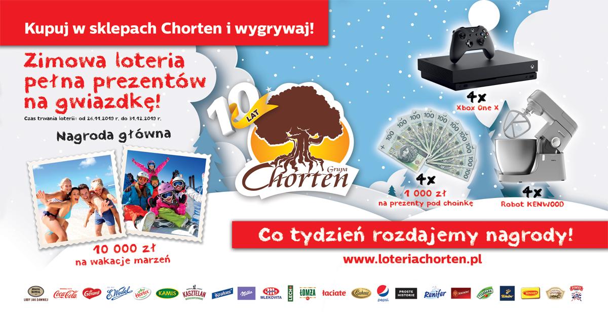 Zimowa loteria w sklepach Chorten