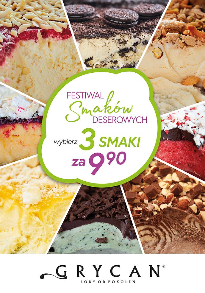 Festiwal smaków deserowych w lodziarnio-kawiarniach Grycan – Lody od pokoleń