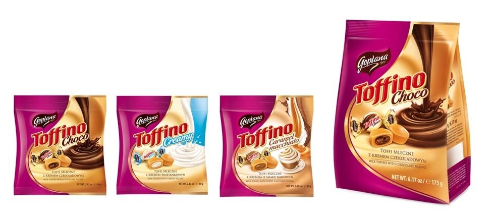 Nowy wizerunek i nowe smaki Goplana Toffino