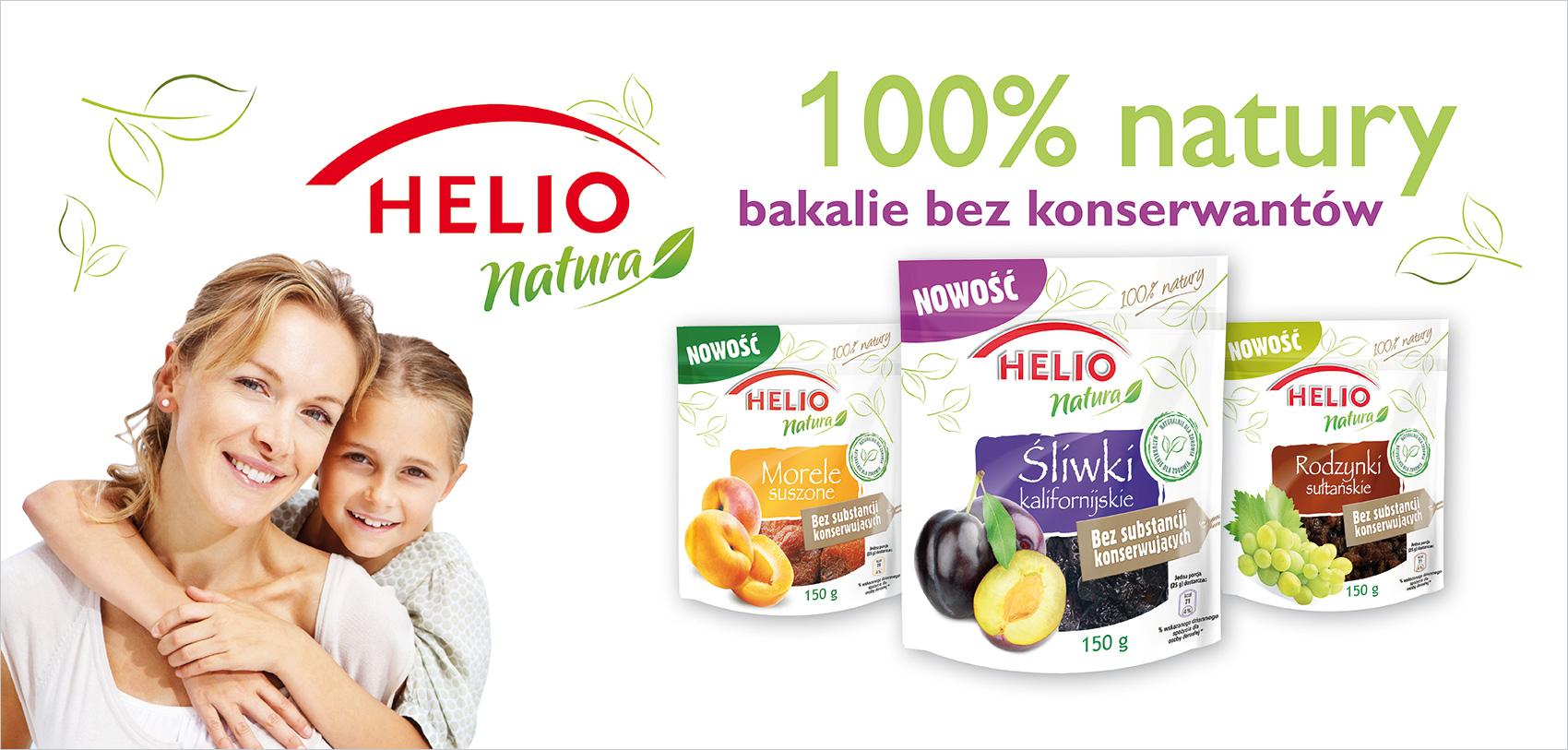 Helio promuje nową linię suszonych owoców
