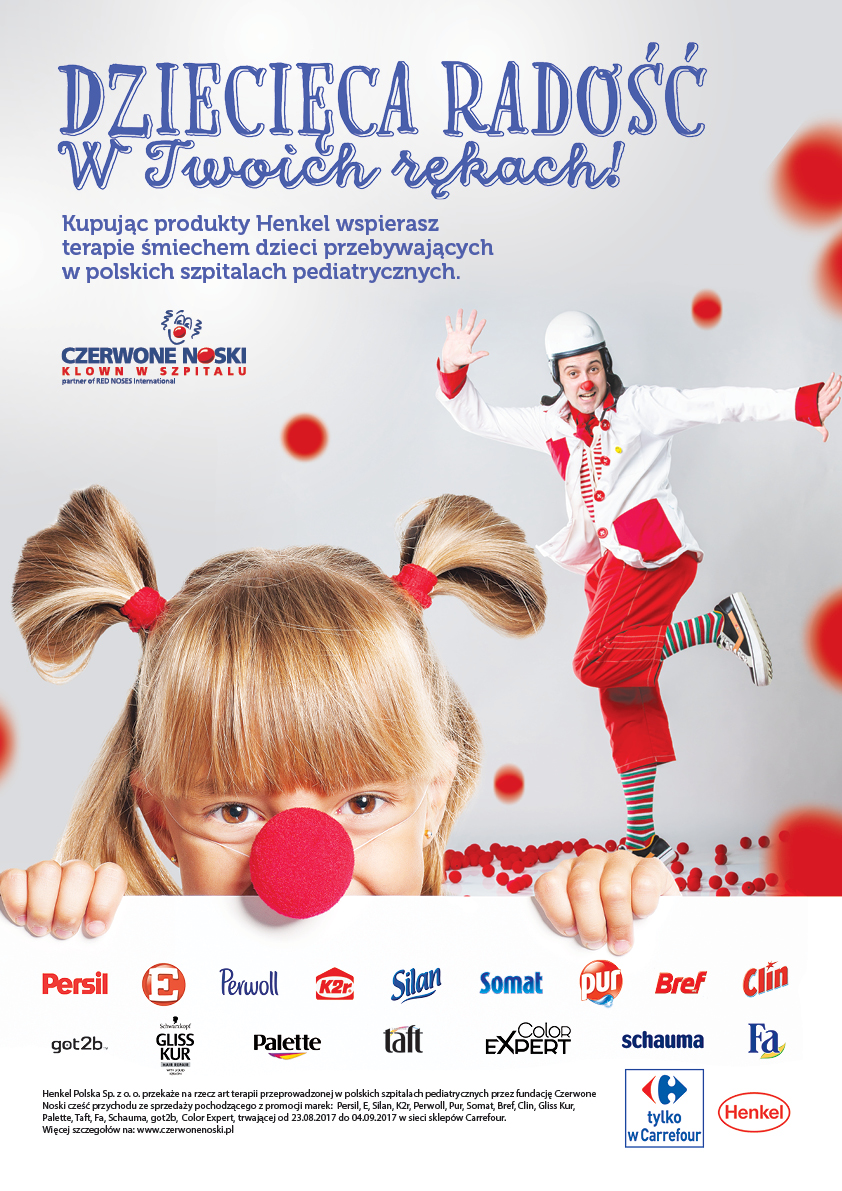 Henkel Polska i Carrefour dla Fundacji Czerwone Noski
