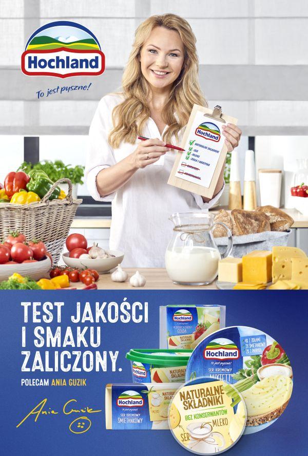 Anna Guzik w kampanii Hochland