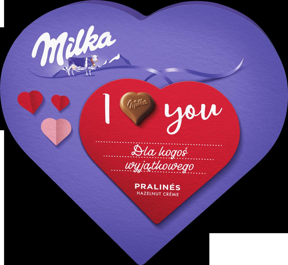 "Personalizowane praliny ""I love Milka"""
