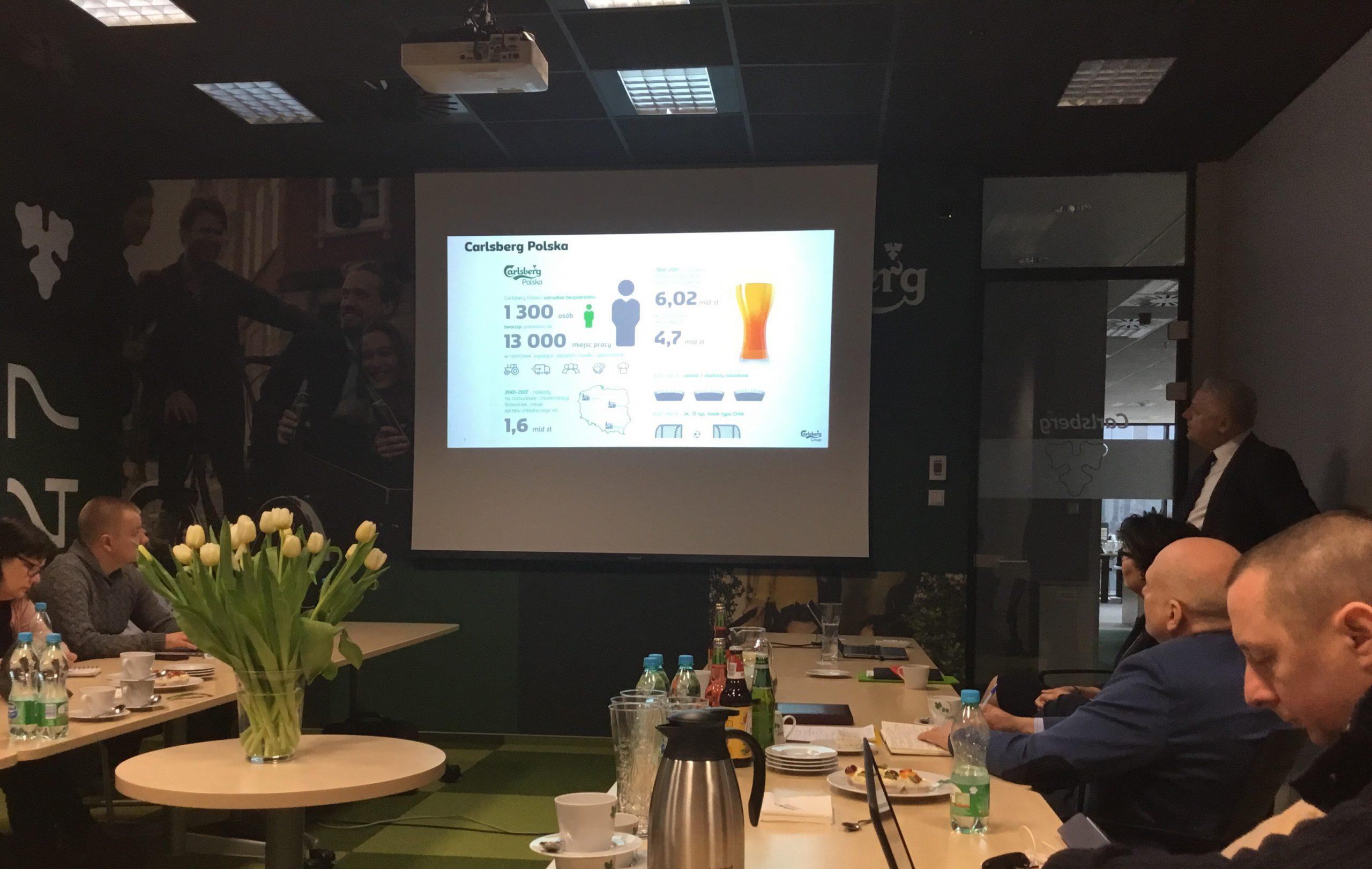 Konferencja w nowej siedzibie Carlsberg Polska