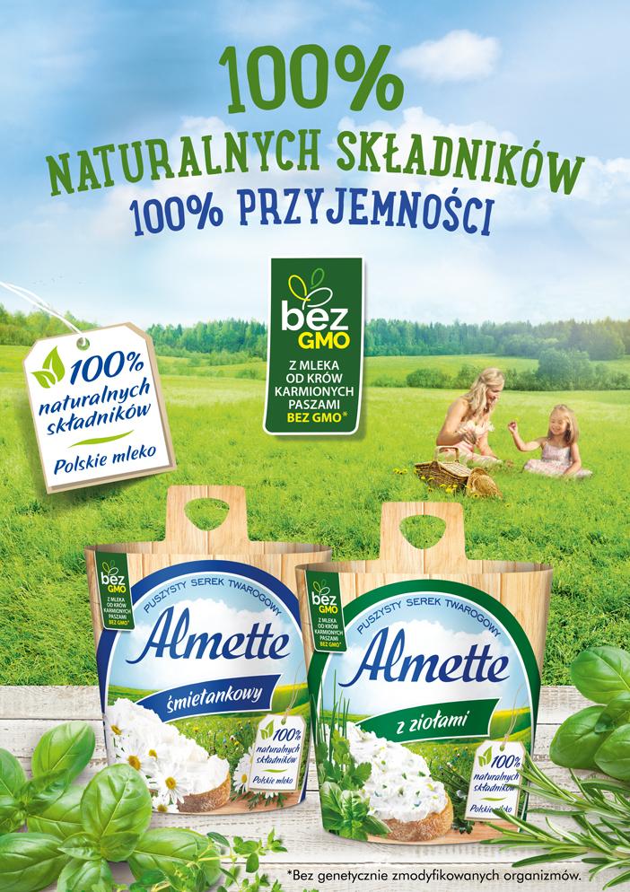 Almette – 100 % naturalnych składników, 100% przyjemności
