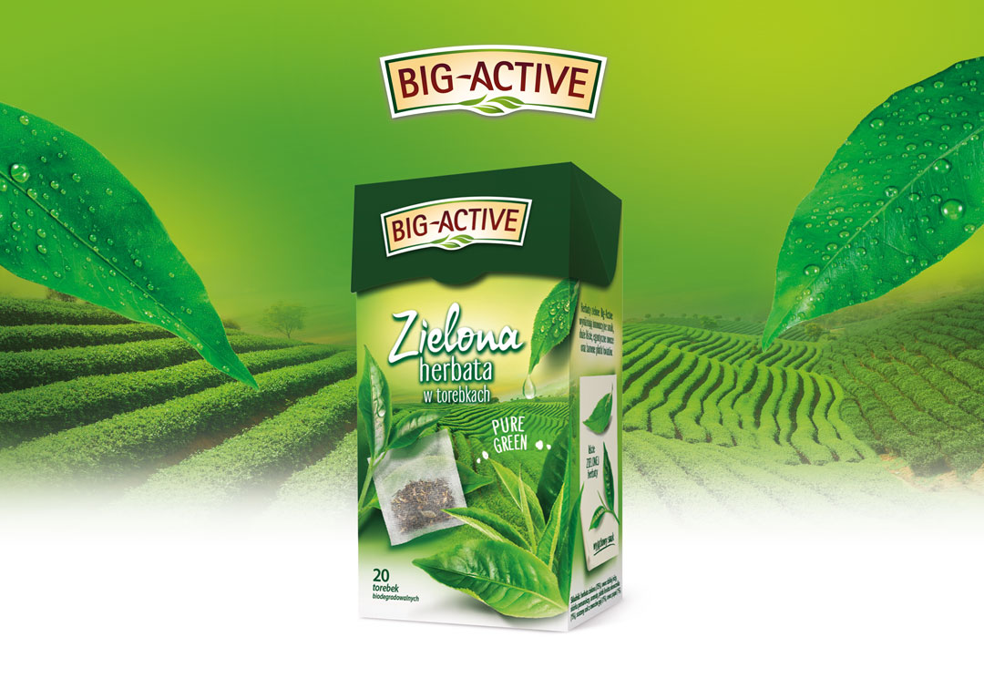 Nowość w portfolio Big-Active – Herbata zielona Pure Green 20tb
