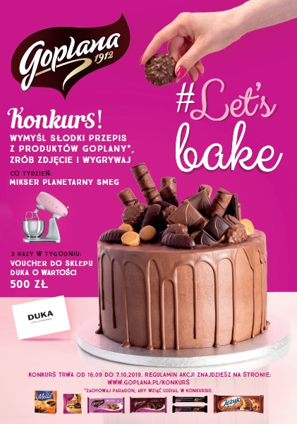 Goplana ogłasza konkurs kulinarny #Let's Bake