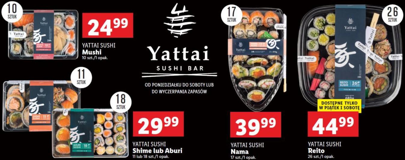 Lidl testuje nowy projekt – codziennie świeże sushi