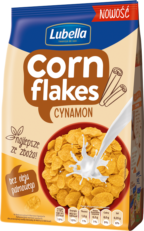 Lubella Corn Flakes Cynamon