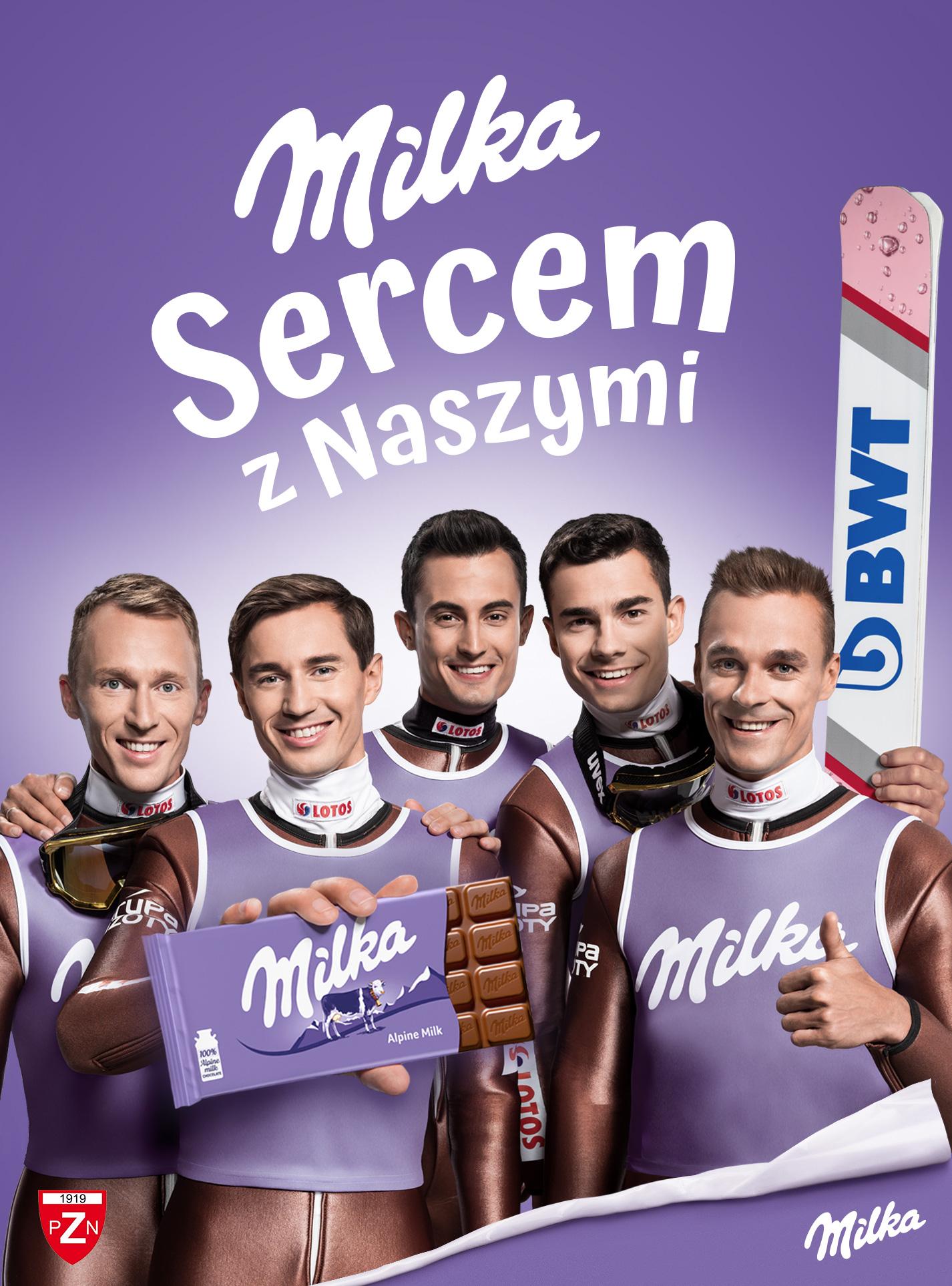 Strefa Kibica marki Milka na stoku  w Stroniu Śląskim