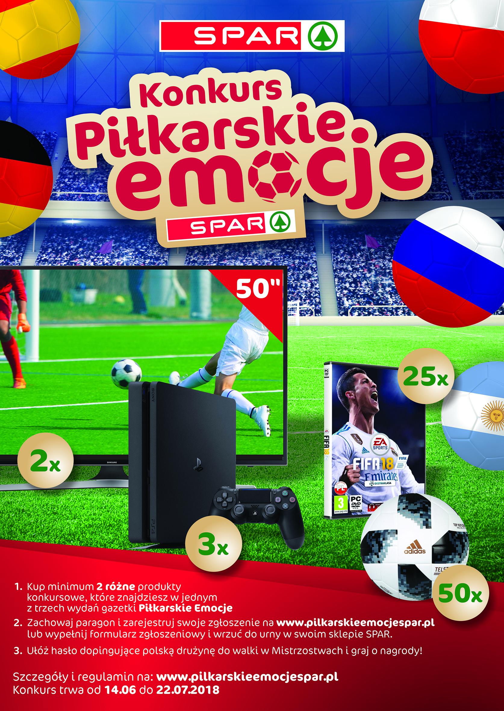 """Konkurs SPAR """"Piłkarskie Emocje"""""""
