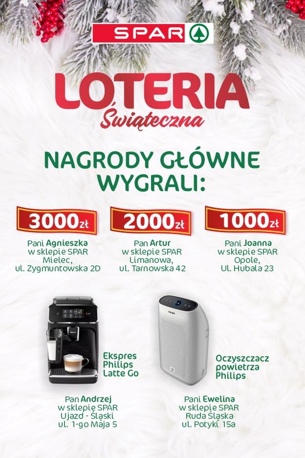 Nagrody w Świątecznej Loterii SPAR Polska rozdane