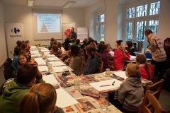 Carrefour i Caritas - warsztaty komiksowe o zdrowej żywności w Katowicach