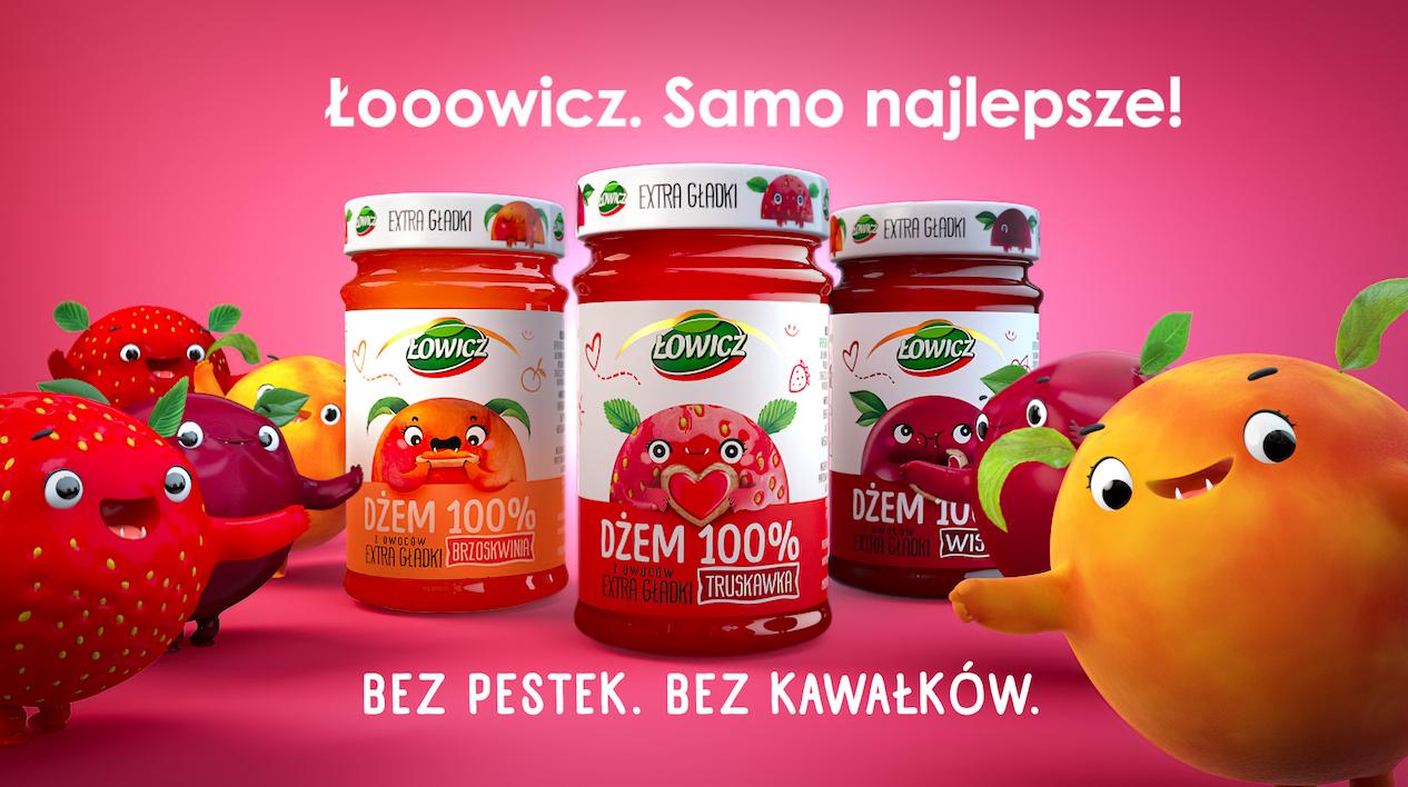 Kampania dżemów Extra Gładkich Łowicz