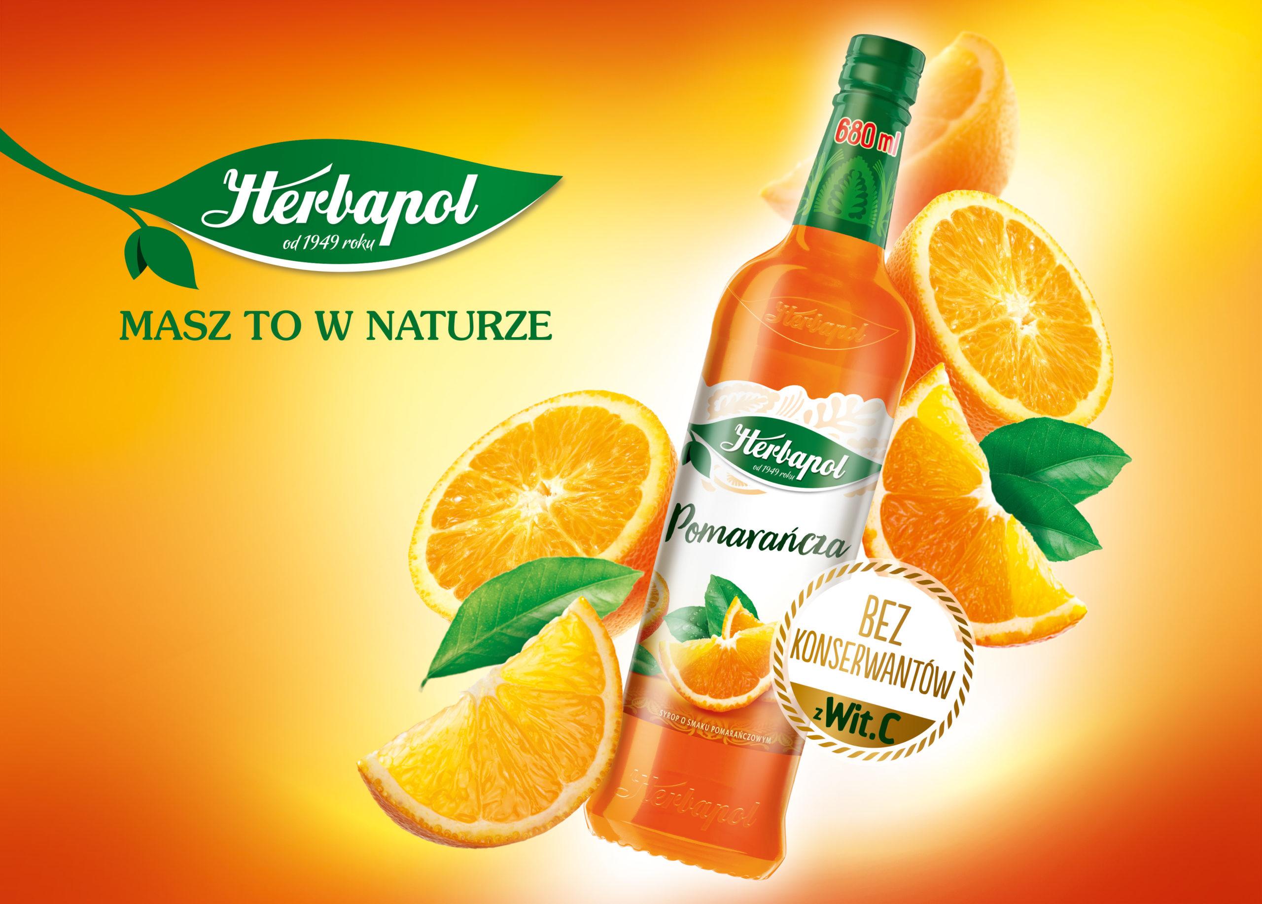 Syrop o smaku pomarańczowym Herbapol