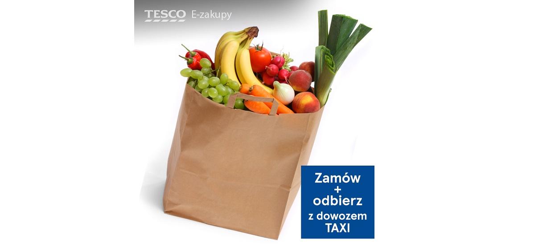 Tesco dostarczy zakupy taksówką