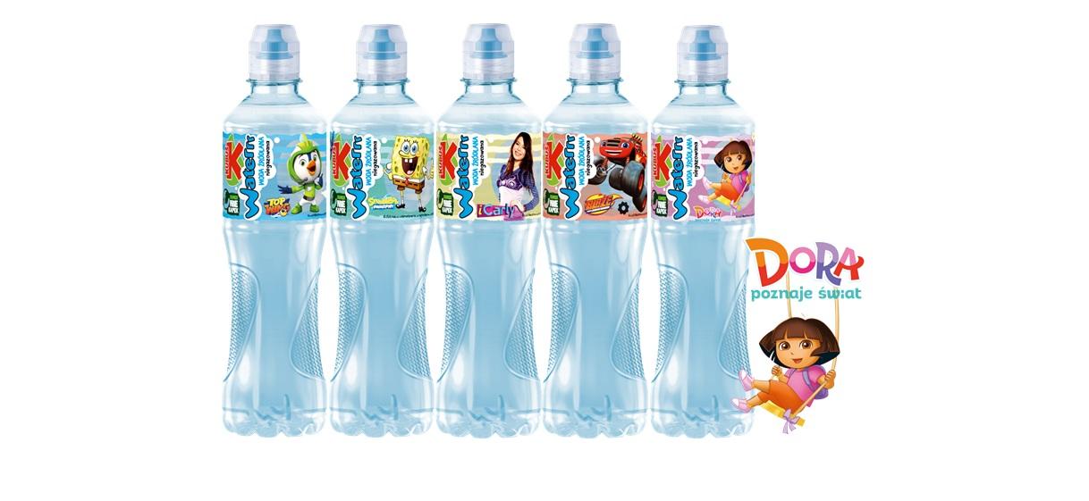 Woda Kubuś Waterrr z bohaterami Nickelodeon