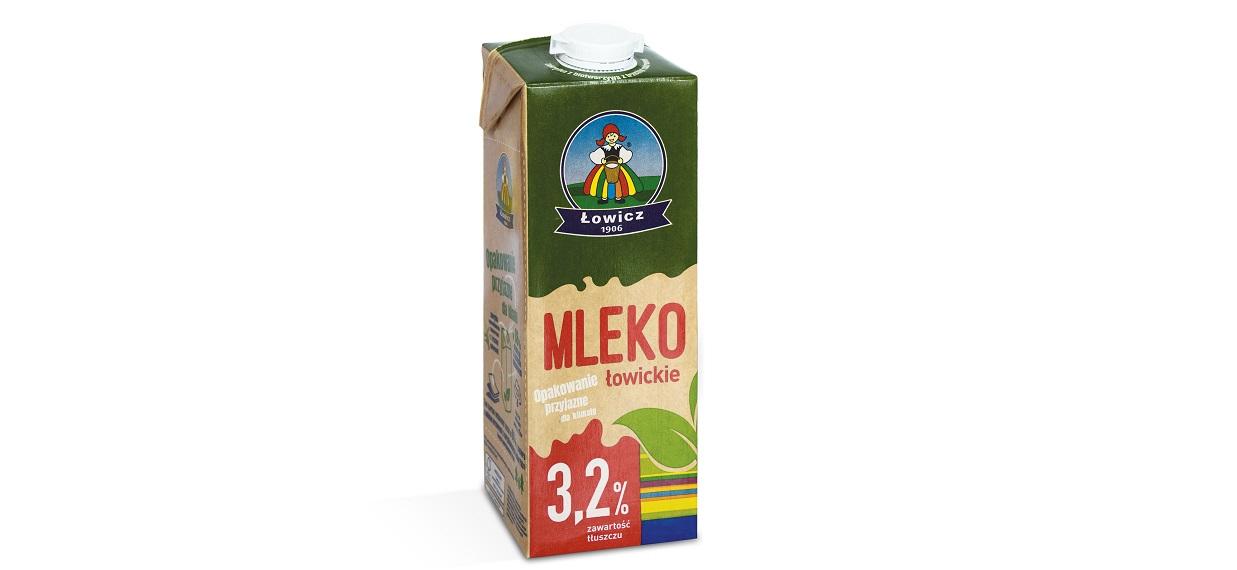 Mleko UHT 3,2% 1L w opakowaniu kartonowym z surowców odnawialnych