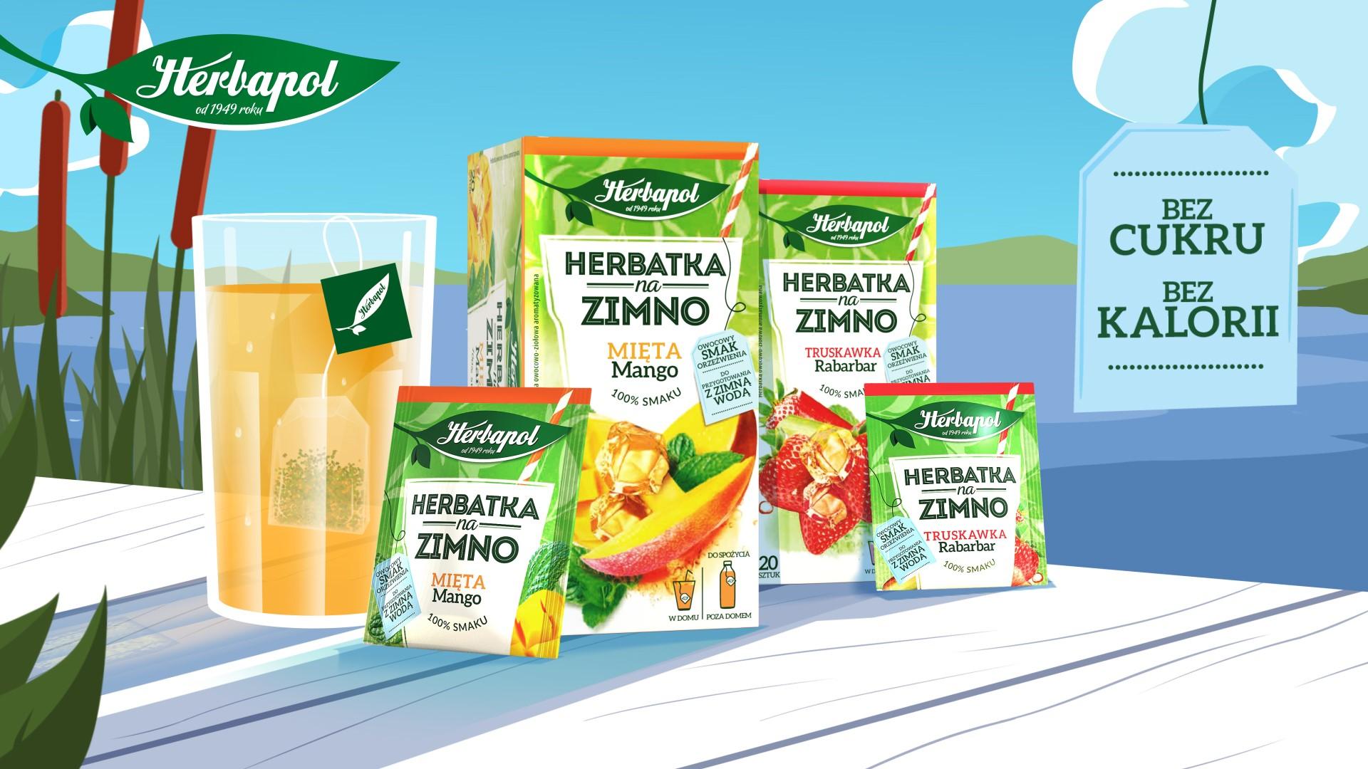 Trwa kampania Herbatek na zimno od marki Herbapol
