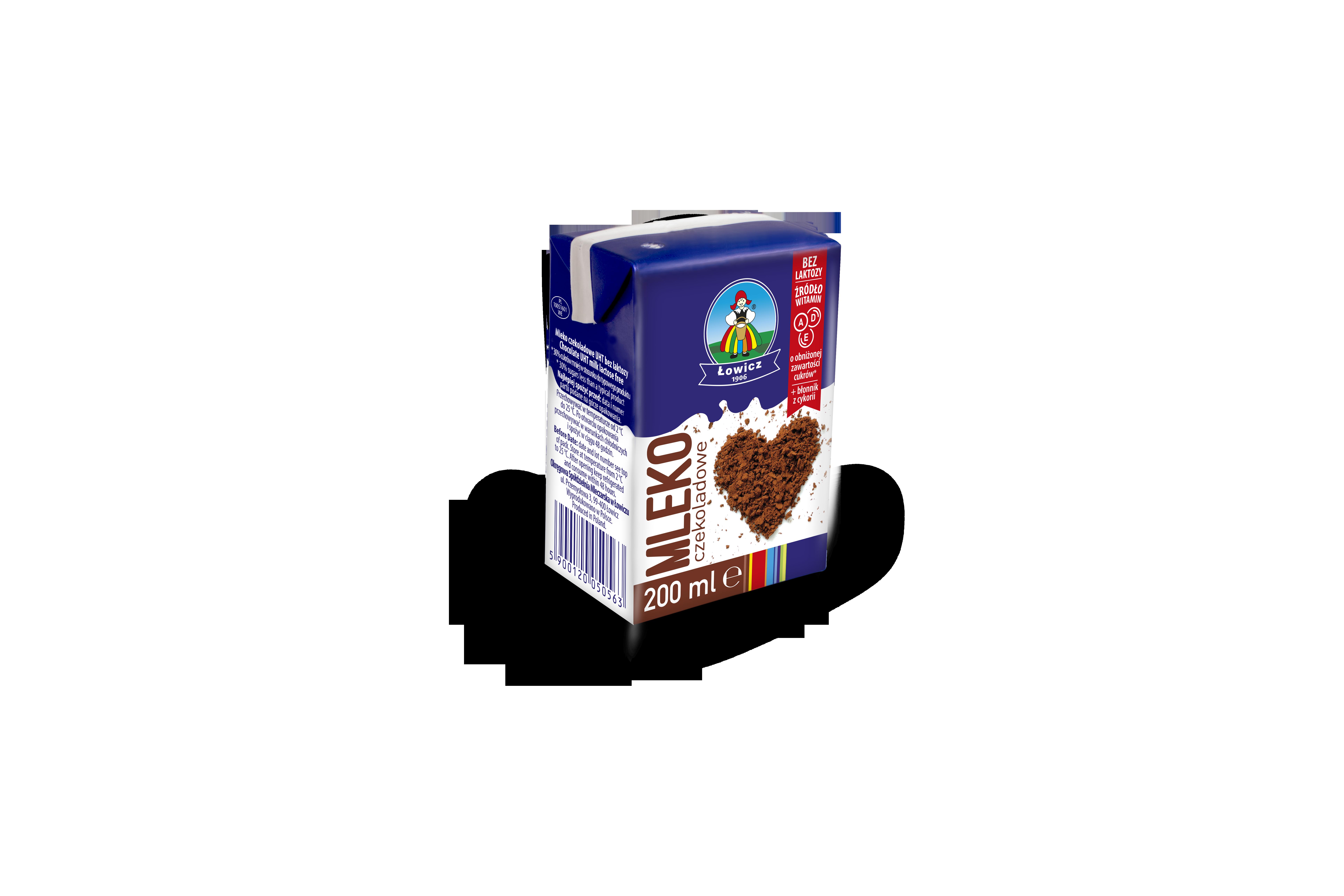 Mleko czekoladowe z witaminami A, D, E