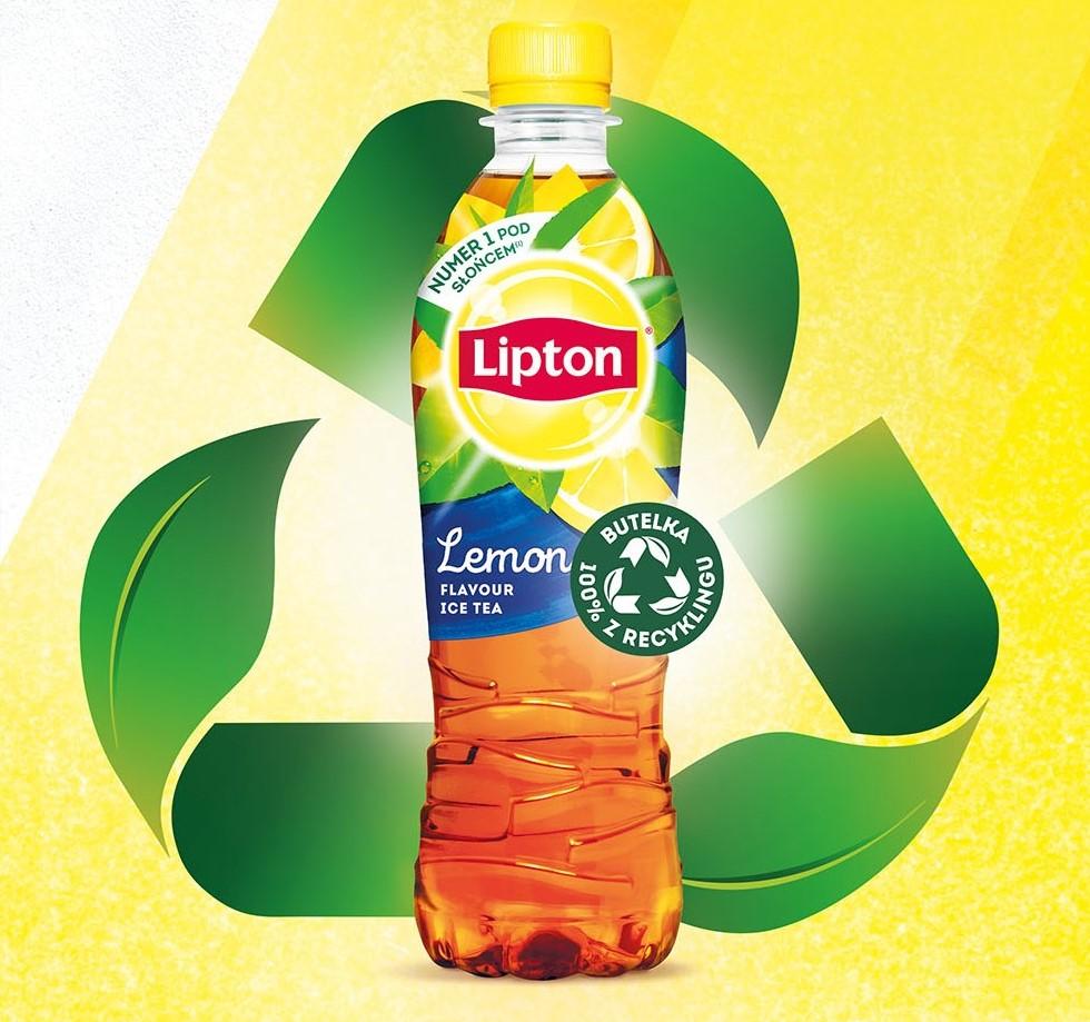 Lipton Ice Tea wprowadza w Polsce butelki wykonane w 100% z recyklingu
