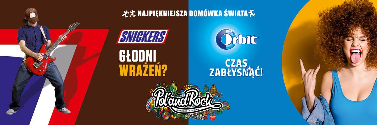 """Orbit i Snickers na """"Najpiękniejszej Domówce Świata"""" – 26. Pol'and'Rock Festival"""