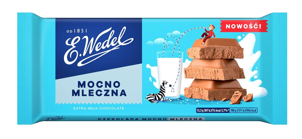 Nowa linia czekolad Mocno Mlecznych od E.Wedel