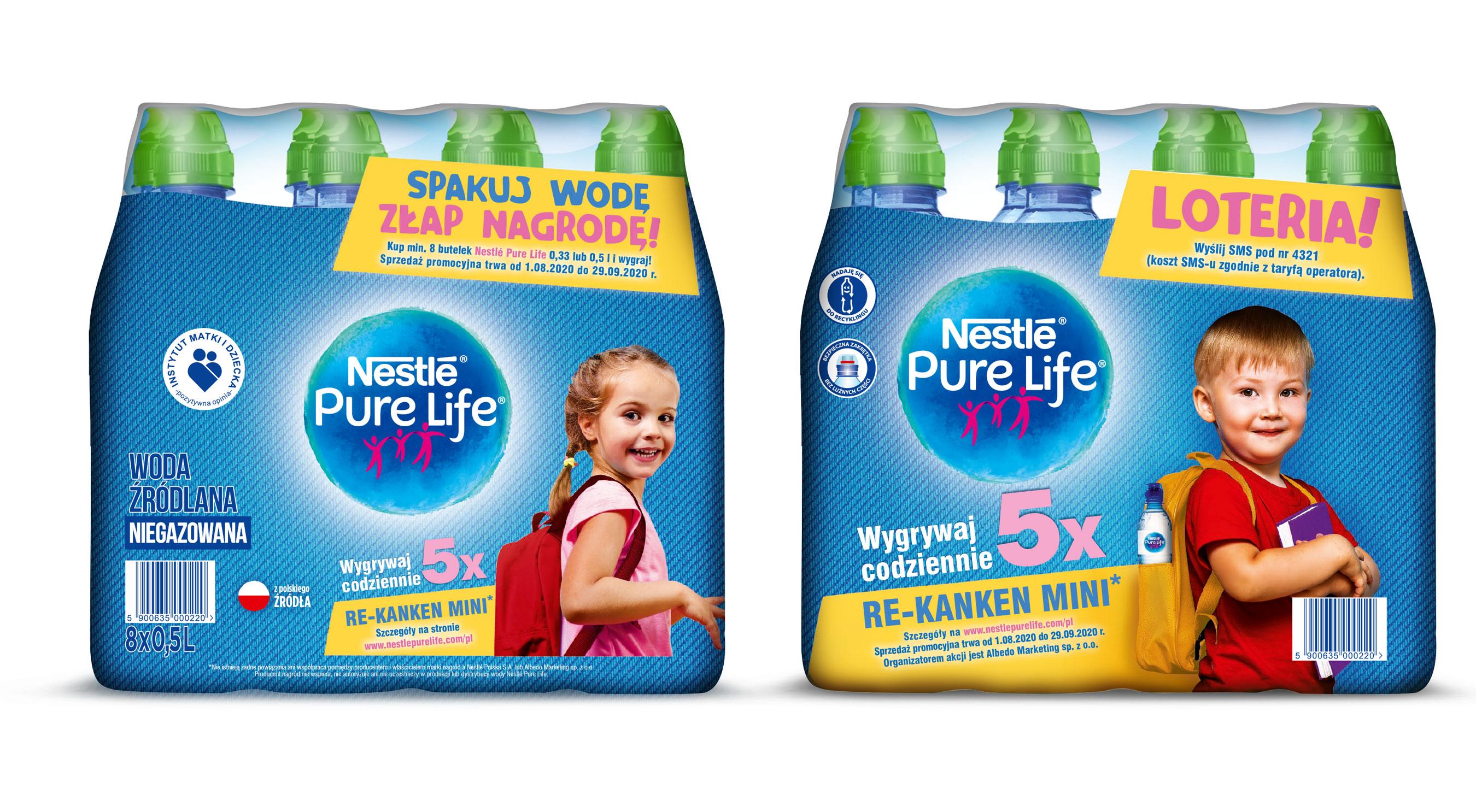 Nestlé Pure Life z loterią z plecakami z materiału z recyklingu do wygrania
