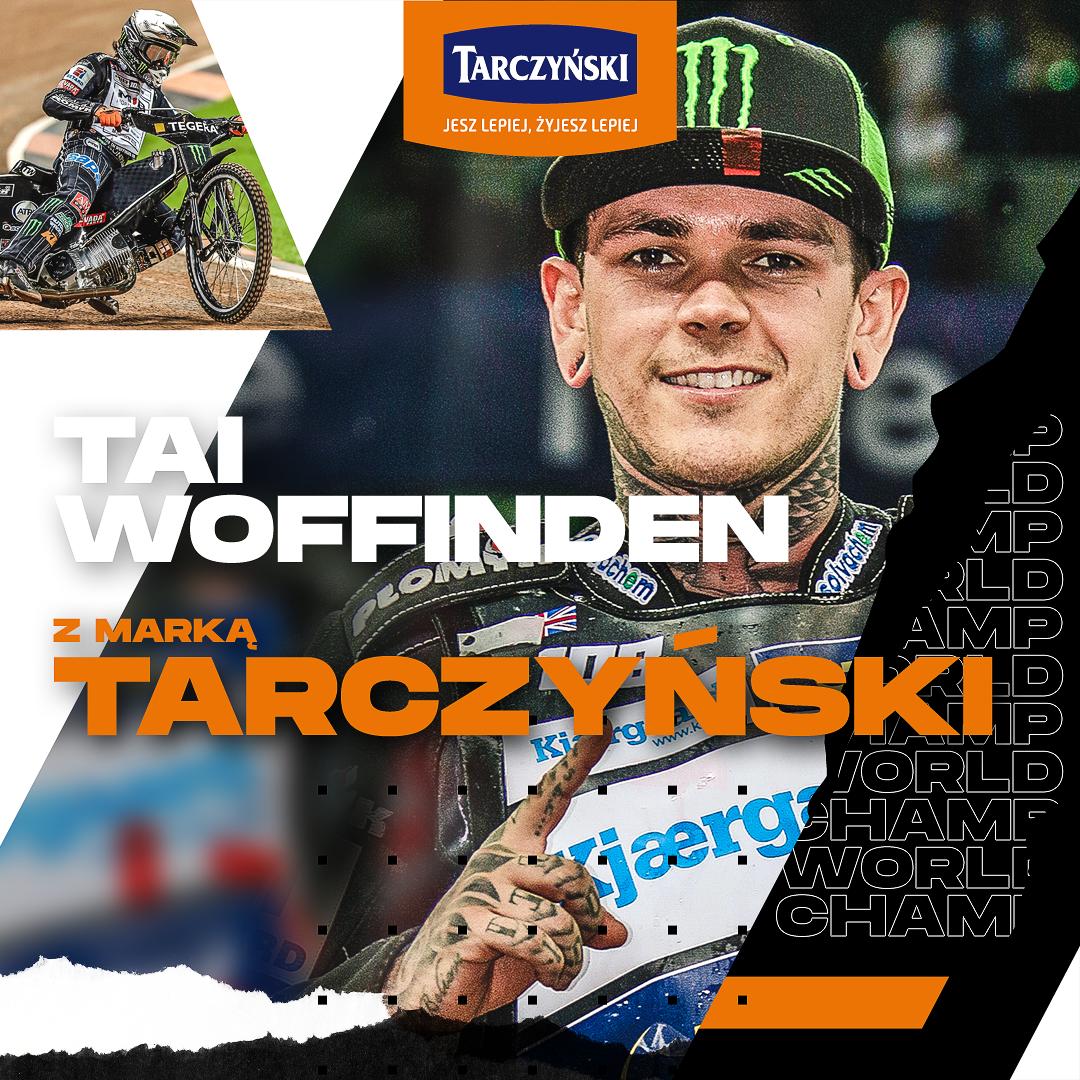 Tarczyński sponsorem Taia Woffindena – trzykrotnego żużlowego mistrza świata