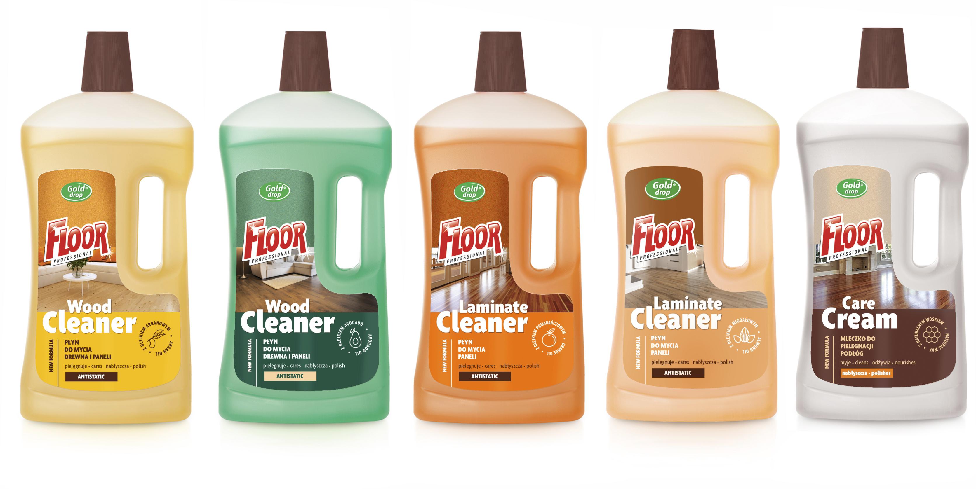 FLOOR professional –  nowa formuła płynów do mycia paneli i podłóg drewnianych.