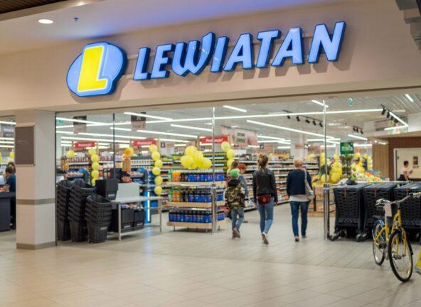 Inteligentne wózki w sklepie PSH Lewiatan
