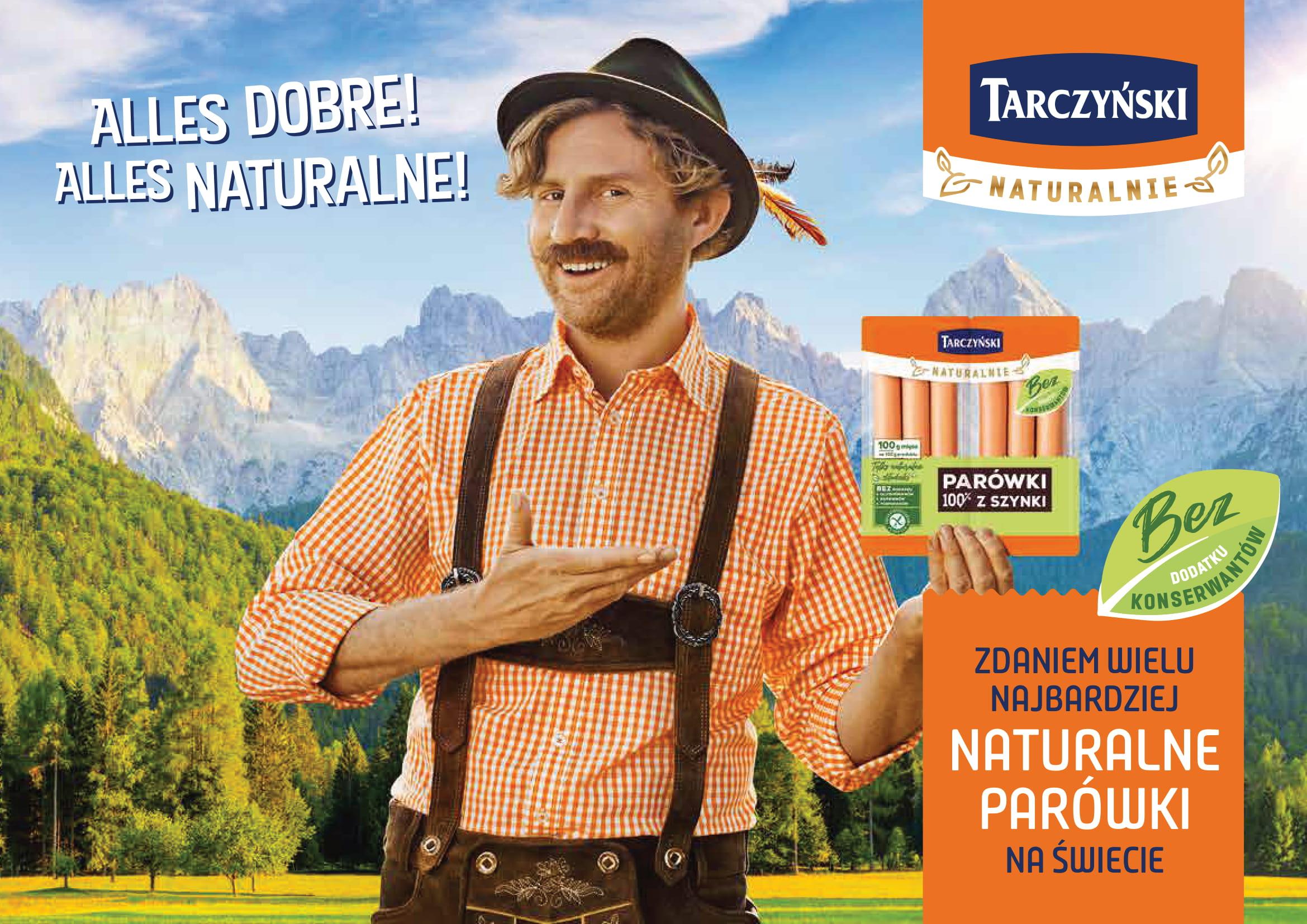 Największa w historii kampania reklamowa parówek z linii Tarczyński Naturalnie