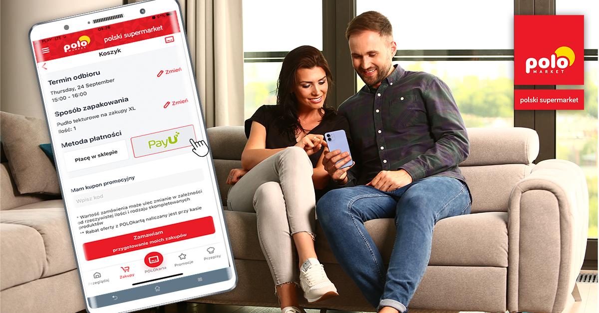 Płatność online za zakupy w aplikacji Polomarket