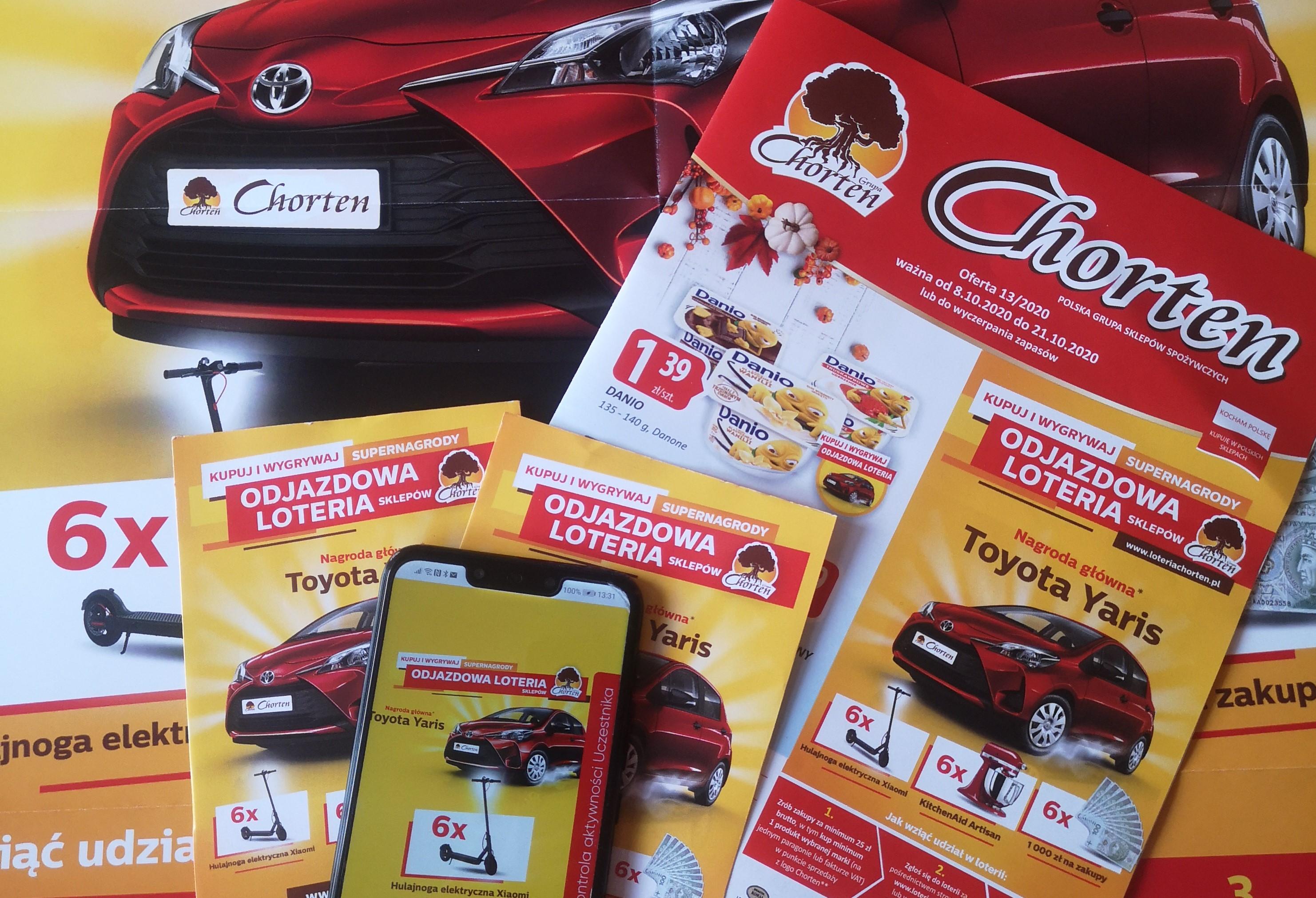 Znane marki w loterii sklepów Chorten