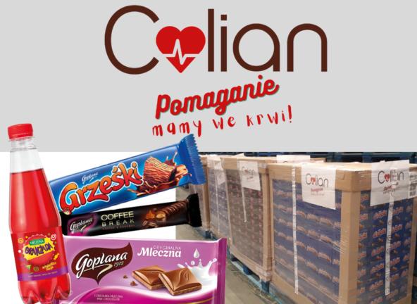 Colian przekazał słodycze dla krwiodawców
